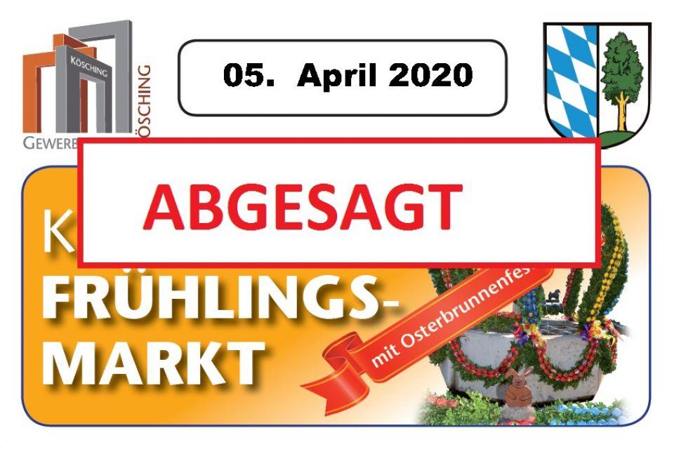 Köschinger Frühlingsmarkt mit Ostrbrunnenfest